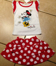 NWT Minnie Mouse Top Red White Polka Dot Tiered Skirt Set Size 5T LAST ONE!