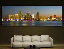 Miami Skyline Canvas Print Wall Home Art Prints Colorful Picture 2 1