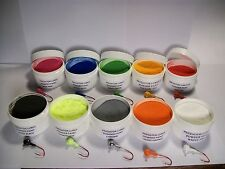 JIG HEAD FISHING LURE 1 oz POWDER PAINT IN 1 OZ WIDE MOUTH JARS