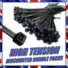 Strong Black White & Natural Cable Ties / Tie Wraps, Various Sizes