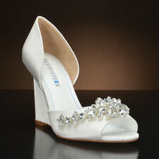 "David Tutera ""Winter""  White  Wedge Heel"