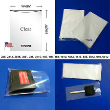 100-1000 2-Mil Clear Poly Bags Lay-Flat Open Top LDPE Plastic 2ml Thick Polybags