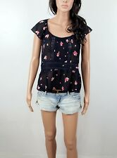 NWT Abercrombie  Women's Top Hailey Easy Fit  Sheer Lace By Hollister