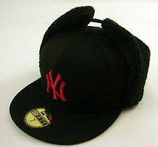 New Era Cap 59Fifty New York Yankees Dog Ears Black/Red Fitted Hat MLB SALE