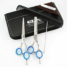 Professional Barber Hairdressing Scissors Thinning & Hair Cutting Set black 5.5""