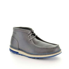 CLARKS MUMFORD FOLK MENS LEATHER GREY STYLE #65996