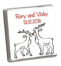 PERSONALISED CHOCOLATE WEDDING FAVOURS/ XMAS & WINTER DESIGNS 100'S MORE IN SHOP