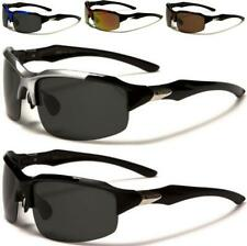 NEW XLOOP MENS LADIES SUNGLASSES BLACK POLARIZED DRIVING FISHING LENS BIG WRAP