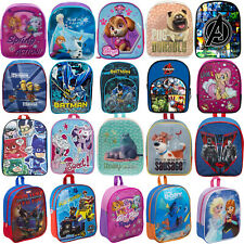 BRANDED KIDS CHILDRENS TODDLERS CHARACTER BACKPACK RUCKSACK LUNCH SCHOOL BAG