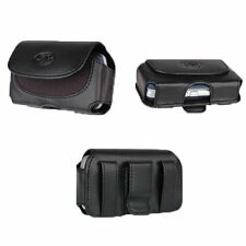 Apple iPhone 4s, 4 or 3GS Black Leather pouch, work with otterbox commuter case