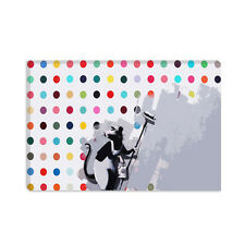 Banksy Rat Spots Damien Hirst Banksy Canvas Print Painting Reproduction