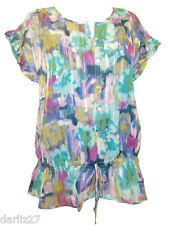 Lovely Watercolour Brush Print Blouse by First Avenue.