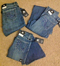 ROCK & REPUBLIC Girls Sz JEANS Lexi BOOT CUT Rhinestone LOGO 8,10,12, or 16