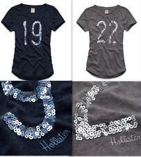 Hollister By Abercrombie Women's T Shirt Shady Canyon Sequined Varsity Logo