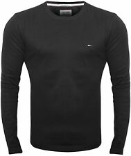 New Tommy Hilfiger Mens Black Trump Long Sleeved Designer T-Shirt