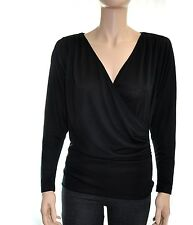 NWT BCBGeneration Contemporay Missy Long Slv Wrap Top S M L XL Reg. $58