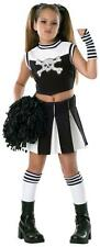 CHILDRENS GIRLS UNIFORMS CHEERLEADERS BAD SPIRIT BLACK DRESS COSTUME - 3 SIZES