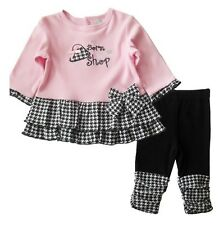 Pink Born Shop baby girl outfits, Girls long sleeve dress leggings suit TJ-T0087