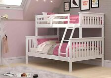 Twin over Full Mission Bunk Bed - White -Kids Furniture with FREE Slat Kits