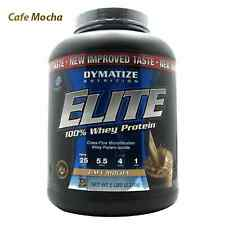 Dymatize Nutrition: ELITE WHEY PROTEIN - CAFE MOCHA (5 lbs)  MUSCLE GROWTH. FAST
