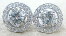 NEW 925 STERLING SILVER Classic Elegant ROUND Oval Pear Cz Studs Stud Earrings