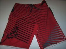 NEW FOX RACING board shorts swimsuit swim  Q4 4 way stretch QUAD BEDE red black