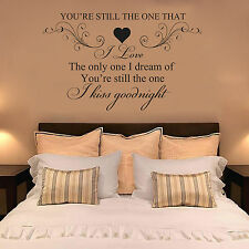 SHANIA TWAIN, YOU'RE STILL THE ONE I LOVE Quote, Sticker, Decal, Mural, lyrics