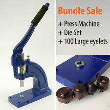 Press Machine +100 Large Big Eyelets Bags Sewing Curtain Punch Tool Set, 15 20mm