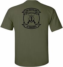 USMC United States Marine Corps - 2nd Battalion, 1st Marines T-Shirt