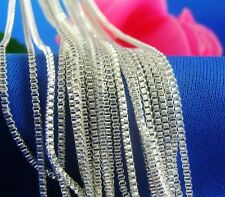 Wholesale 5ps Sterling silver 1.4mm box chains necklace