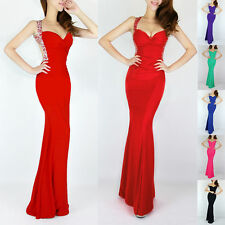 6 Colors For You!!Backless Formal Evening Cocktail Bridesmaid Gown Prom Dresses