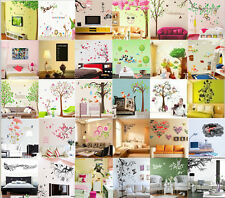 Wholesale Butterfly tree flower Quote Wall Stickers Art Mural Decal Kid Decor