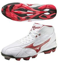 Mizuno Baseball Shoes Franchise F Edition MC MID New White Red 11GP1440