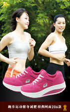 Women's Model Body Execise Athletic Running Sneakers Sport Platform Swing Shoes