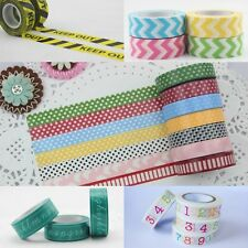 NEW Japanese Washi Dot Tape Deco Decorative Pattern Colorful Tape DIY Sticker