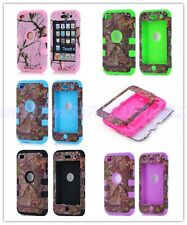 Impact Protect Hybrid Tree Camo Rugged Hard Case Cover For iPod Touch 4 4th Gen