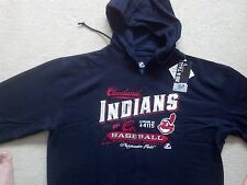 NAVY BLUE CLEVELAND INDIANS BIG MENS HOODED SWEATSHIRT 2X 3X 4X 5X 6X BIG + TALL