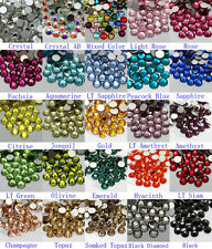 288~2880pcs High Quality Flatback Rhinestones SS30 Multiple Color Crystal