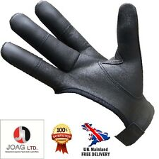 ARCHERS LEATHER SHOOTING 4 FINGER GLOVE CHOCOLATE BROWN & BLACK-