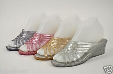 Women's Jelly Candy Sandals Slippers Platform Wedge Soft Flash Medium(D, M)  208