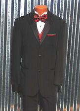 Men's Perry Ellis Two Button Tuxedo Coat Jacket + Pants Package - All Sizes