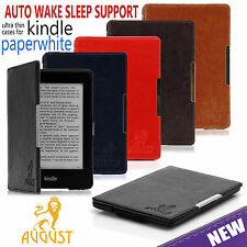 MAGNETIC FOLIO SMART PU LEATHER CASE COVER FOR NEW AMAZON KINDLE PAPERWHITE 2014