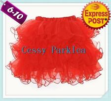 Party Pom Pom Skirt Black Red White Pink Fancy Dress Hens Night Accessories 6-10
