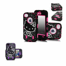 Hello Kitty Silicone Shock Resistant Iphone 4 4s Phone Cover Case Protector Pink