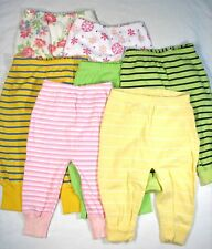NWT HANNA ANDERSSON WIGGLE PANTS 70  6-12m BOY GIRL GREEN BLUE PINK STRIPES