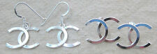"925 STERLING SILVER plain ROUND polished ""x"" Studs & Dangling Earrings TEEN GIRL"