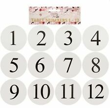 WEDDING TABLE NUMBER CARDS NUMBERS STANDS FAVOURS NAMES PLACE CHEAP X511-70/64