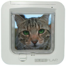 SureFlap Microchip Cat Door White/Brown No Collar or Tag Required