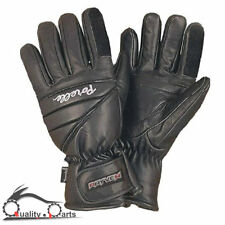 Rayven Storm II Motorcycle Leather Gloves Waterproof Breathable with Visor Wipe
