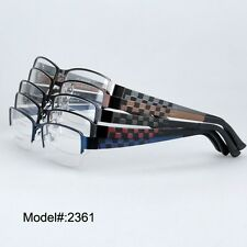 2361 New stylish optical frame half rim eyeglasses metal eyewear spectacles